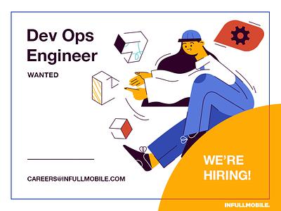 Dev Ops Engineer engineer software programming work dungarees block girl job offer uiux devops careers