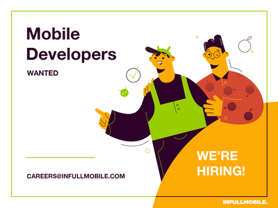 Mobile Developers programming men happy careers uiux design software house job offer ios android