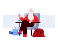 Resting Santa