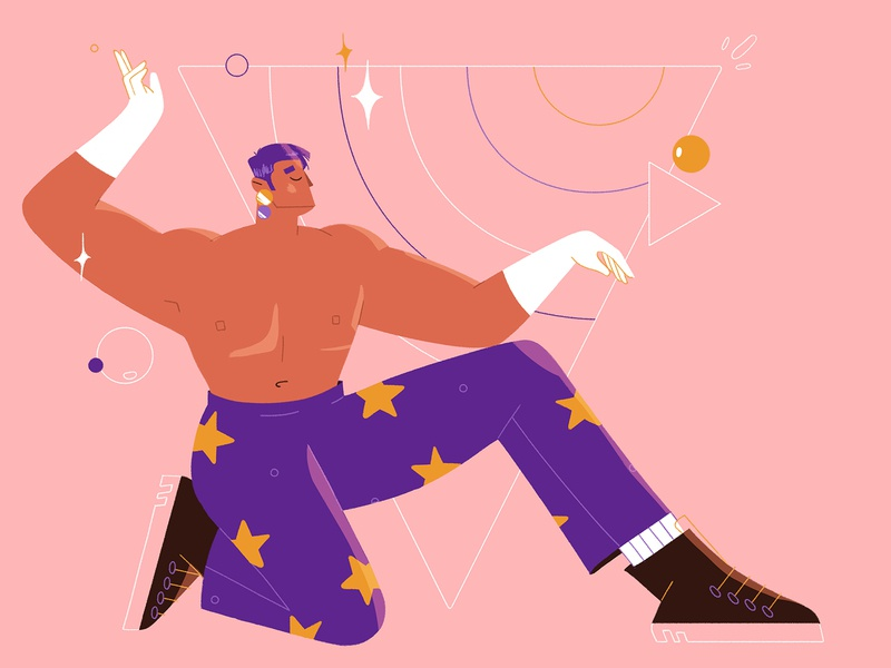 Vogue body photoshop geometry design dance vogue characterdesign illustration