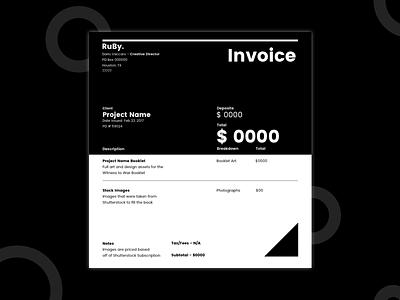 RuBy Invoice Template template invoice minimal apple user interface design print ux ui