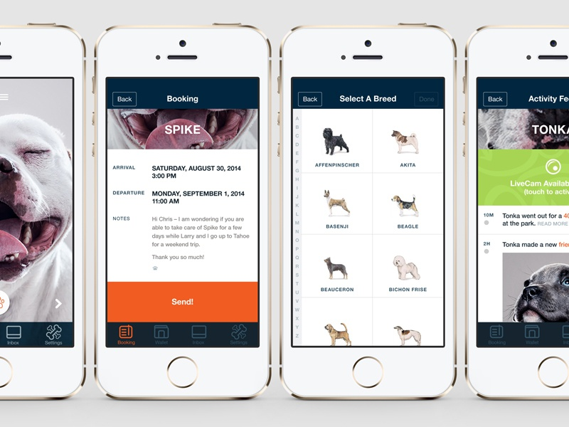 For My Dogs dogs ui ux interface iphone wip dog app