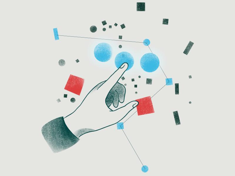 Data and stuff illustration