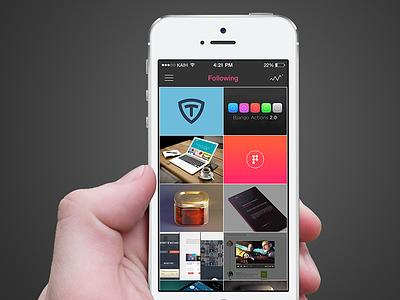 dribbble iOS App ios app dribbble ios 7