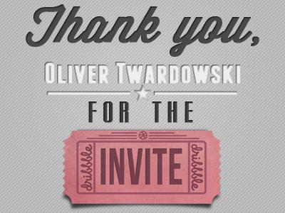 Thank you! thank you thanks invite ticket