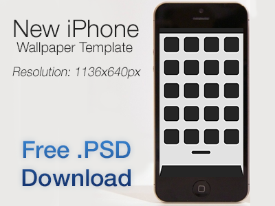 iPhone 5 Wallpaper Template (+ Free .PSD Download) iphone ios wallpaper template download psd new iphone iphone 5