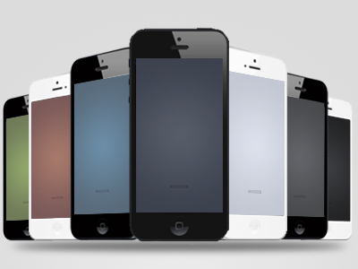 Simple iPhone 5 Wallpaper Set (Freebie)