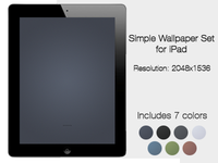 Simple iPad Wallpaper Set (Freebie)