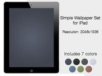 Simple iPad Wallpaper Set (Freebie)