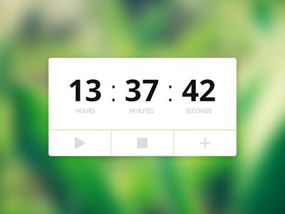 Timer/Stopwatch widget widget timer stopwatch minimal simple