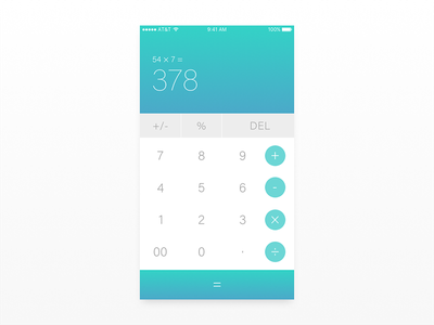 Daily UI 004 // Calculator gradient calculator app dailyui