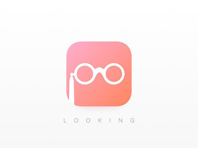 Daily UI 005 // App Icon 005 gradient dating looking app dailyui