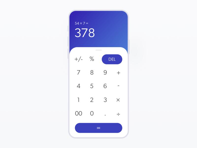 Daily UI 004 // Rework 004 dailyui blue purple gradient ui calculator rework calculator ui