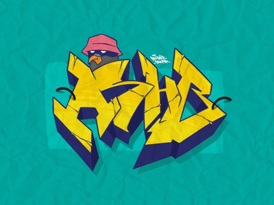 New kid on the block! throw up cans montana art color typo letters green yellow design islamic art islamic illustration typography graffiti