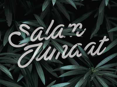 Jumaat   Hidden Text vector islamicart islamic art logo design typo leaf allah alhamdulillah font script typography islam islamic jumaat