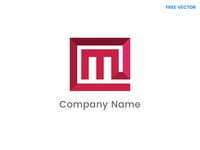Free M Letter logo template vector