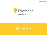 Free Fresh Food Location – Logo Template ui design free company logo logo vector logo template free logo svg location logo vector free food logo free logo