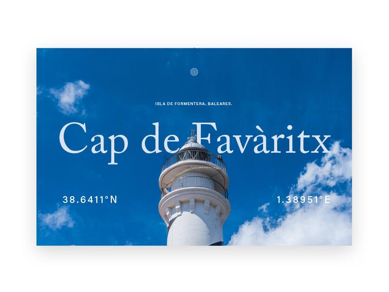 Cap De Favaritx lighthouses minimal typography