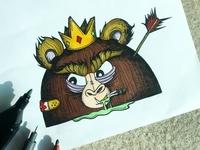 Baws the Monkey head