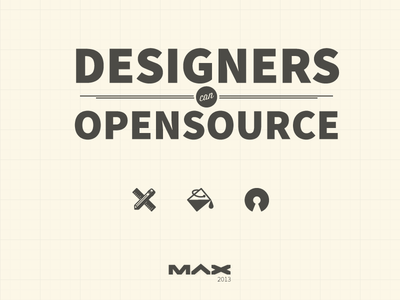 Designers can Open Source