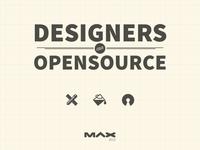 Designers Can Open Source open source design slides deck