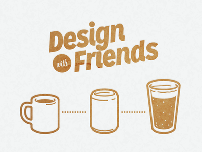 Design With Friends coffee soda beer illustration can cup texture design friends event designathon collaboration