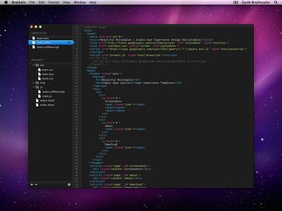 Brackets Initial Design open source editor code prototype early design