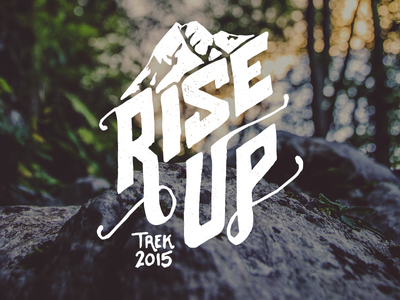 Rise Up branding mountain trek