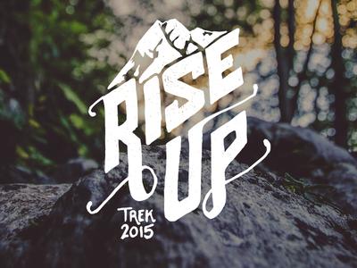 Rise Up branding mountain trek