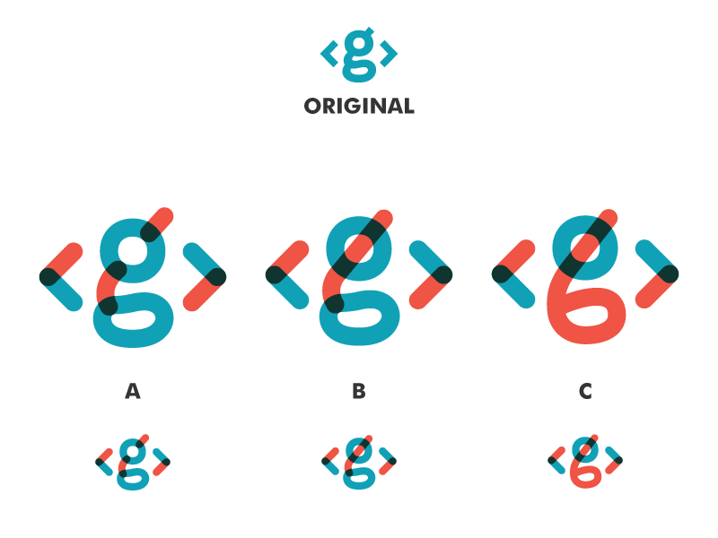 Personal Overprint Logo Idea idea wip brand feedback overprint orange blue g