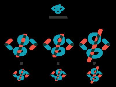 Overprint Logo variations logo personal brackets