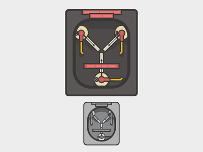 Time Travel flux capacitor back to the future illustration icon time travel