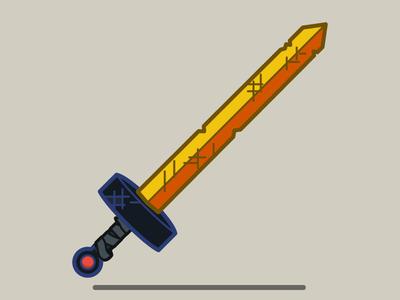 The Golden Sword of Battle vector scarlet sword