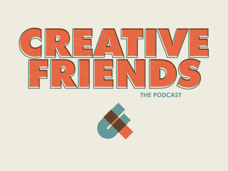 Creative friends branding podcast orange magic friendship friends creative