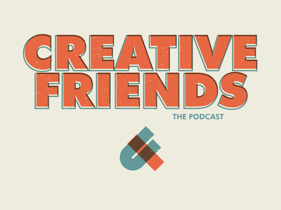 Creative friends branding podcast orange magic friendship friends creative