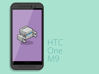 HTC One M9 Vector