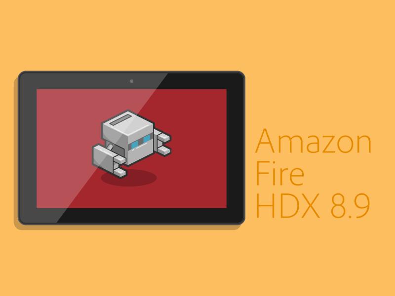 Amazon Fire HDX 8.9 Vector phonegap tablet mobile line art source flat vector