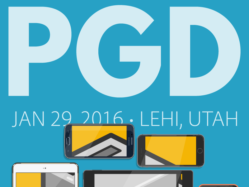 PhoneGap Day 2016 shine mask mosaic robot mobile phonegap conference logo