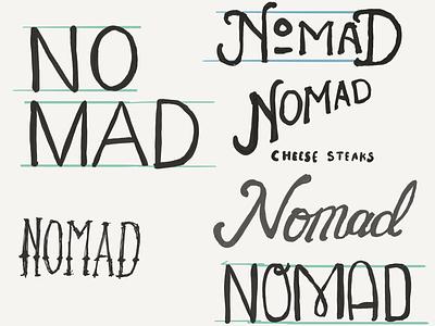 Nomad Sketches restaurant food sketching lettering branding