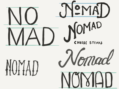 Nomad Sketches restaurant food sketching lettering branding