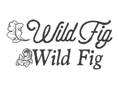 Wild Fig Logo Sketches wip fig leaf branding catering