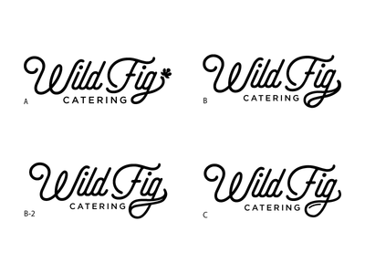 Wild Fig Catering Variations catering wip branding logo
