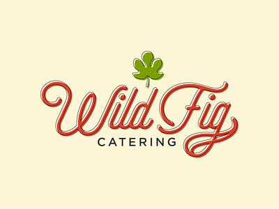 Wild Fig Offset leaf branding catering offset