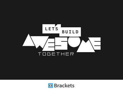 Let's Build Awesome Together typography awesome