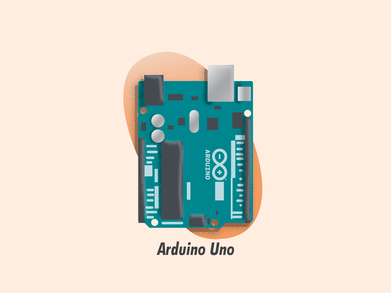 Arduino Uno source file circuit board illustration illustrator