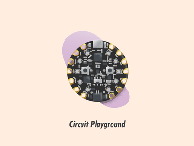 Circuit Playground circuit board illustration illustrator