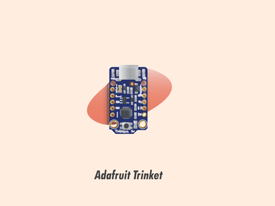 Adafruit Trinket circuit board illustrator illustration
