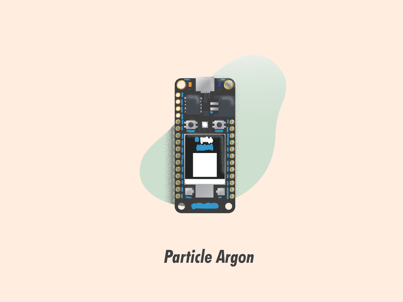 Particle Argon circuit board illustrator illustration