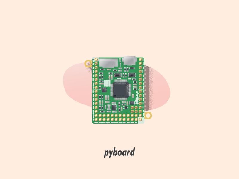 pyboard circuit board illustrator illustration