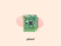 pyboard circuit board illustrator illustration